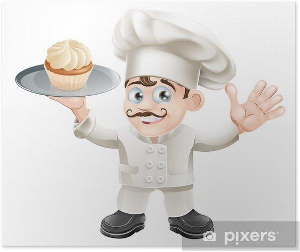 Plakat Ciasto piekarz - Naklejki na ścianę