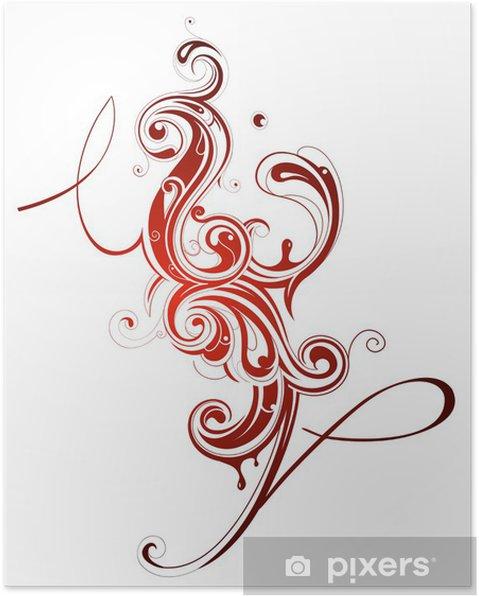 Plakat Ciecz sztuka - Abstrakcja