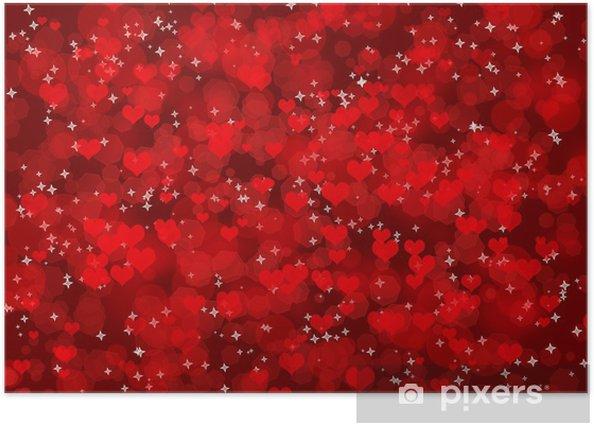 Plakat Ciemne tło z serca - Święta międzynarodowe