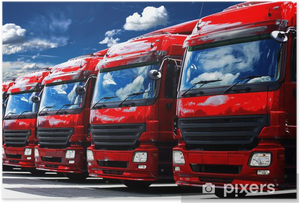 Plakat Ciężarowe - Przemysł ciężki