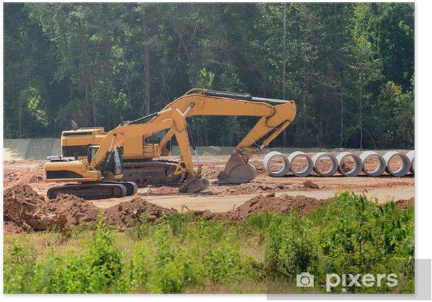 Plakat Ciężki sprzęt budowlany - Przemysł ciężki