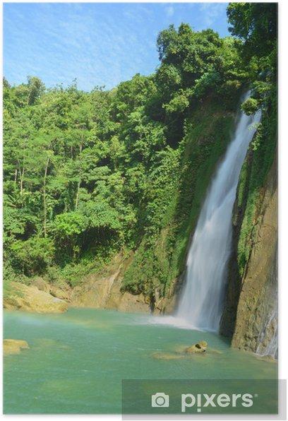 Plakat Cikaso wodospad - Natura i dzicz