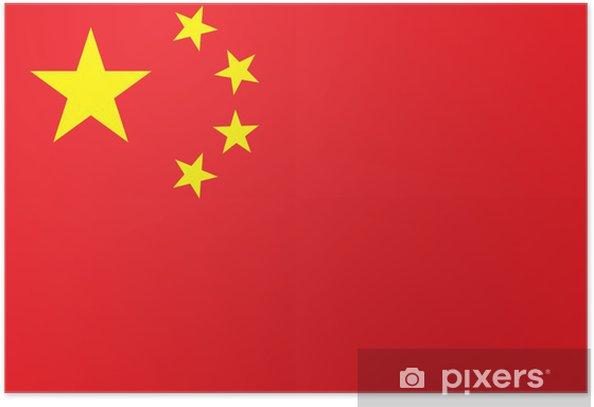 Plakát Čína vlajka s vysokým rozlišením - Témata