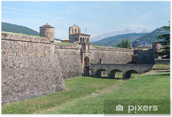 Plakat Ciudadela Jaca, fortyfikacje wojskowe w Hiszpanii - Europa