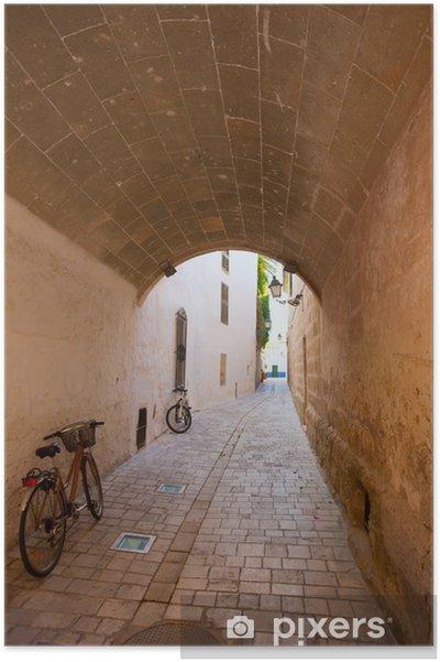 Plakát Ciutadella Menorca valené klenby pasáž v centru - Evropa