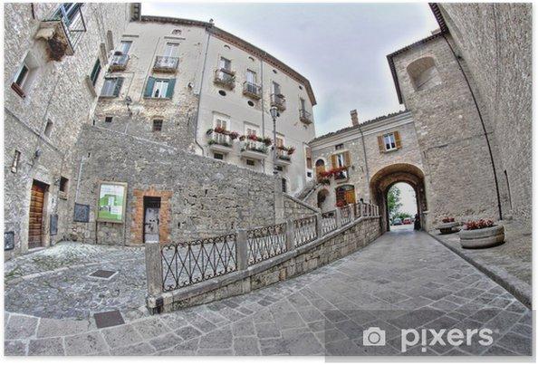 Plakat Civitella del Tronto, starożytne miasto Włoch - Europa