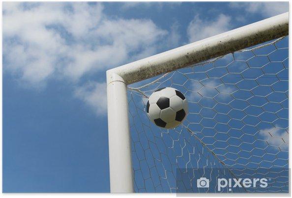 Plakat Close-up z piłką nożną - Religie