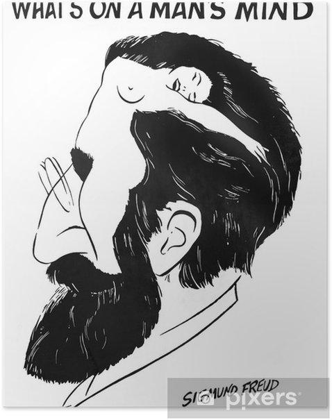 """Plakat """"Co jest w umyśle człowieka"""" przez Zygmunta Freuda - iStaging"""