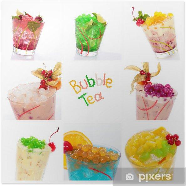 Plakat Cocktails und mit collage Bobas Jelly - Alkohol