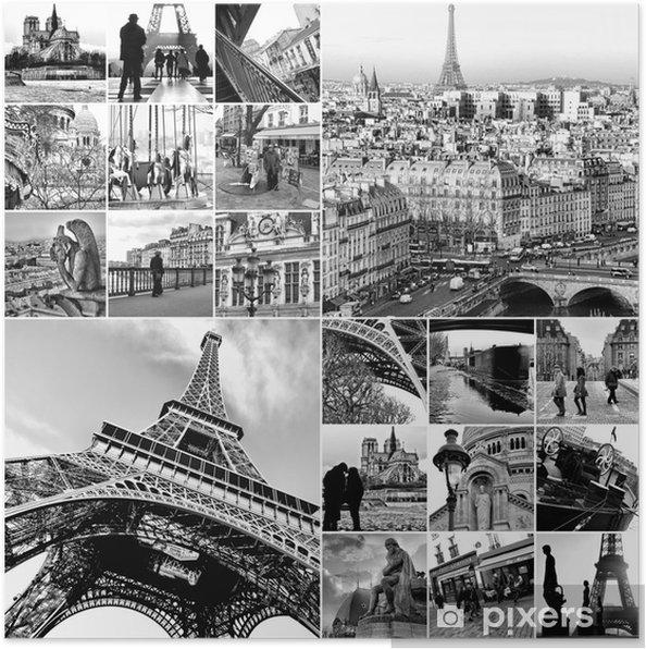 Plakat Collage Paris - Miasta europejskie