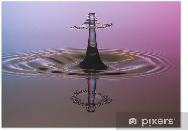 Plakat Collision Kropla wody Splash - Abstrakcja