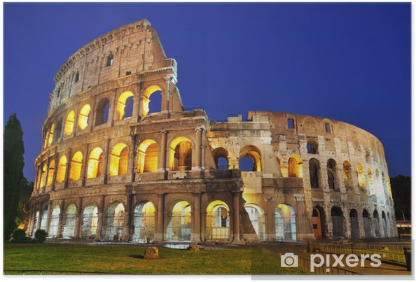 Plakat Colosseum na zmierzchu - Tematy