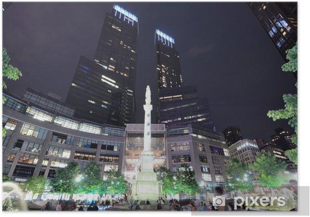 Plakat Columbus Circle w Manhattan - Miasta amerykańskie