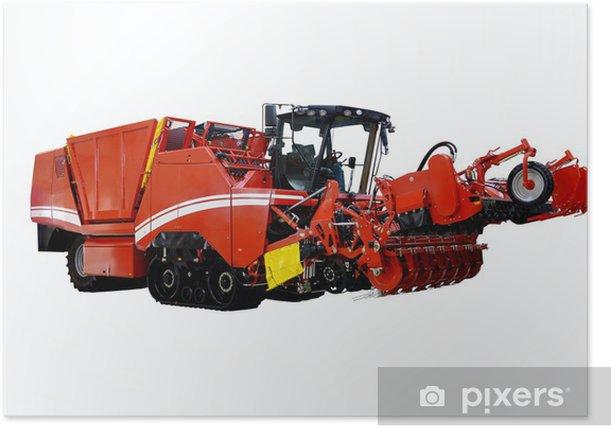 Plakát Combine harvester - Na cestě