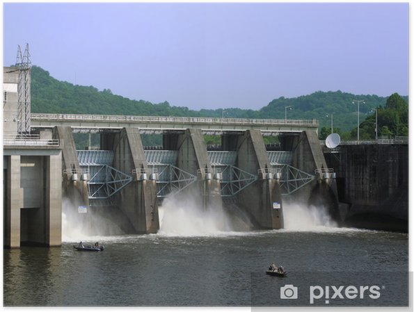 Plakat Cordell Hull Dam - Ameryka