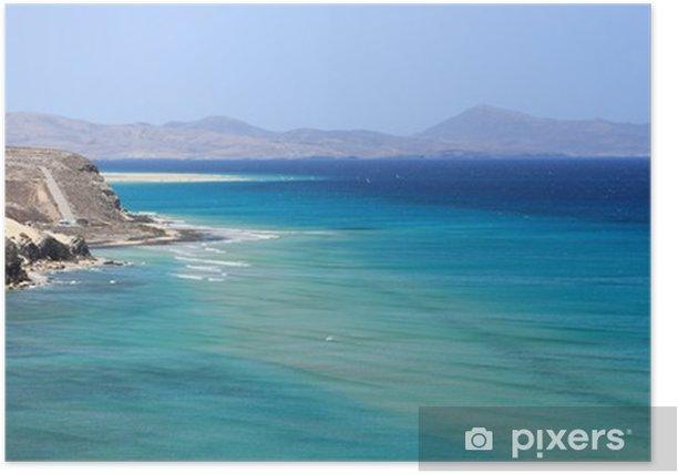 Plakat Côte Sauvage de l'Île de Fuerteventura - Krajobrazy