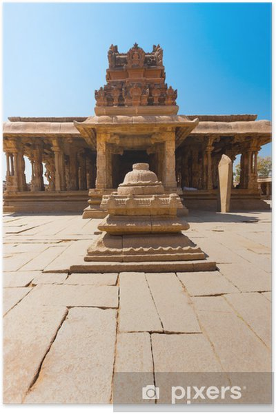 Plakat Courtyard przedniej kamienia Sri Krishna Temple Hampi - Azja