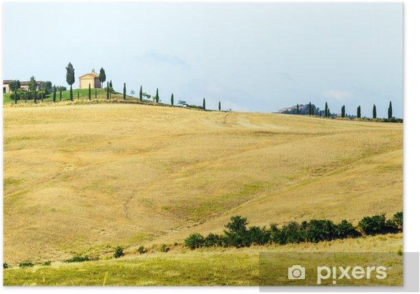 Plakat Crete Senesi, Toskania Włochy - Krajobraz wiejski