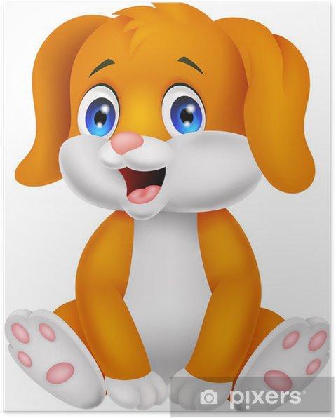 Plakat Cute cartoon dog dziecko - Ssaki