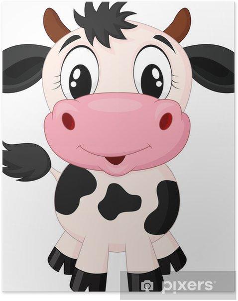 Plakat Cute cartoon krowa - Naklejki na ścianę