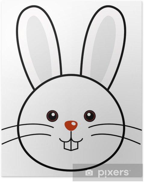 Plakat Cute Rabbit Vector - Ssaki