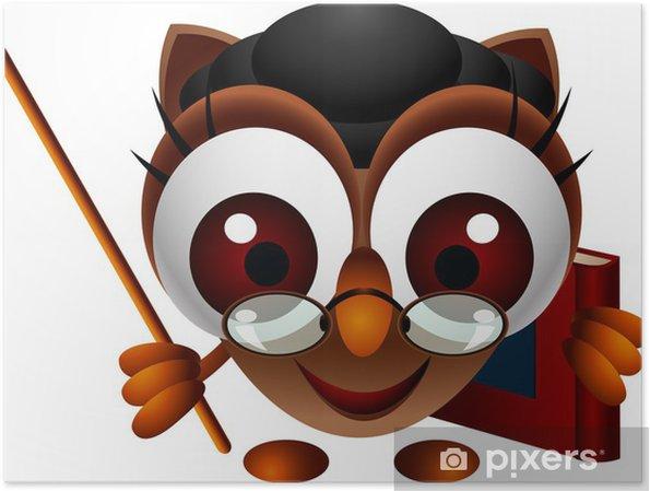Plakat Cute Sowa wręcza - Ptaki