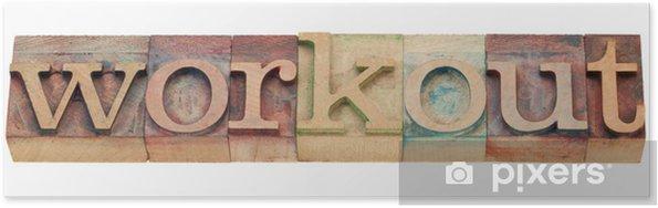 Plakát Cvičení slovo v knihtisk typu - Značky a symboly