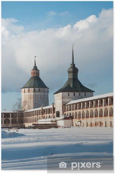 Plakát Cyril-Belozersky klášter. - Památky