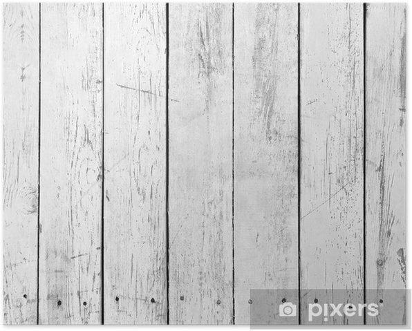 Plakat Czarne i białe tło z drewnianych desek - Style