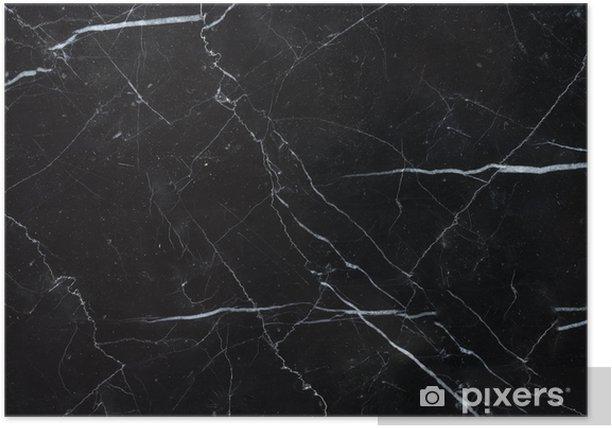 Plakat Czarne tło marmur tekstura marquina - Zasoby graficzne