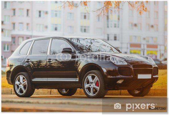 Plakat Czarny samochód luksusowy - Transport drogowy