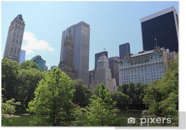 Plakat Czas letni w Central Park, Nowy Jork - Miasta amerykańskie