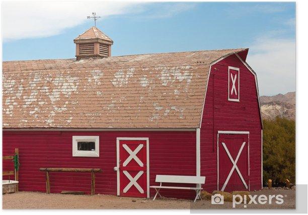 Plakat Czerwona stodoła - Budynki prywatne