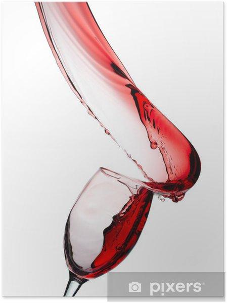 Plakat Czerwone wino rozpryskiwania - Tematy