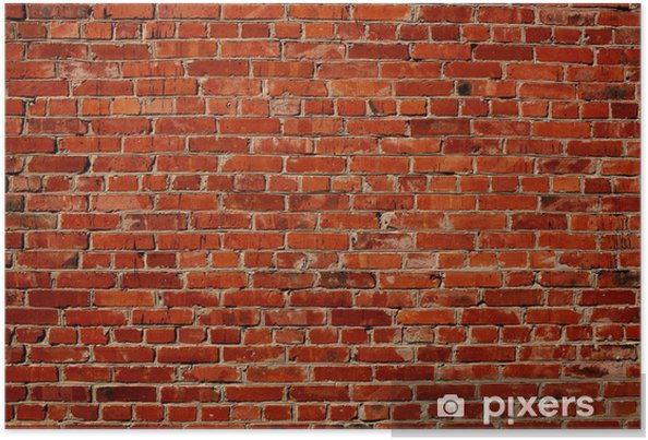 Plakat Czerwony mur z cegły -