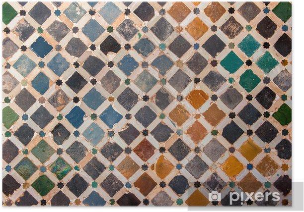 Plakat Dachówka dekoracje, pałac Alhambra, Hiszpania - Tła