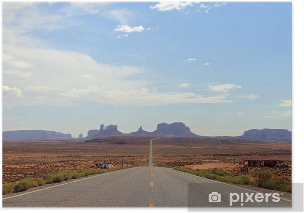 Plakat Daleki widok Monument Valley, Utah, USA - Ameryka