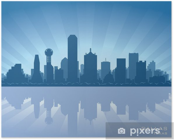 Plakat Dallas, Texas skyline - Ameryka