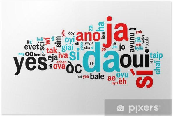Plakat Dans Toutes Les Oui Langues Nuage De Mots Pixers żyjemy