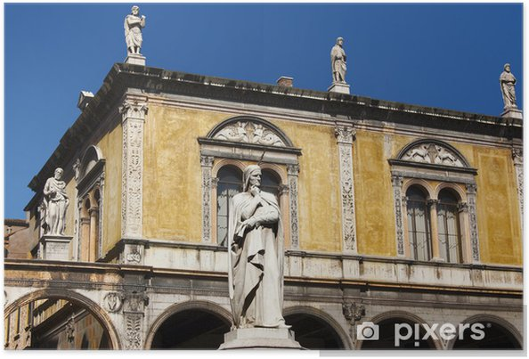 Plakát Dante čtverec Verone - Piazza Dante Verona - Evropa