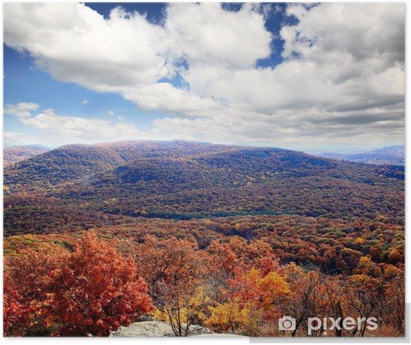 Plakat Dekoracje liści z góry Bear Mountain - Pory roku