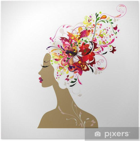 Plakat Dekoracyjnych kompozycji z pięknem - Moda
