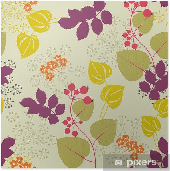 Plakát Dekorativní květinové pozadí - Pozadí