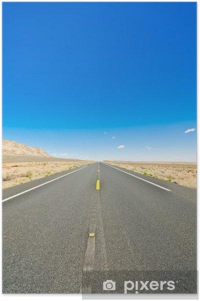 Plakat Desert road - Krajobraz wiejski