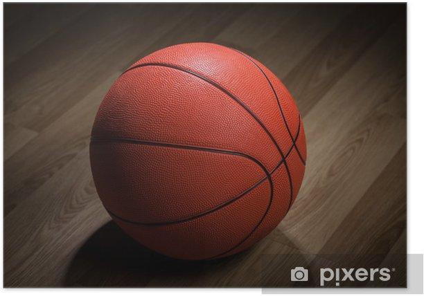 Plakát Detailní záběr na basketbalový míč - Basketbal