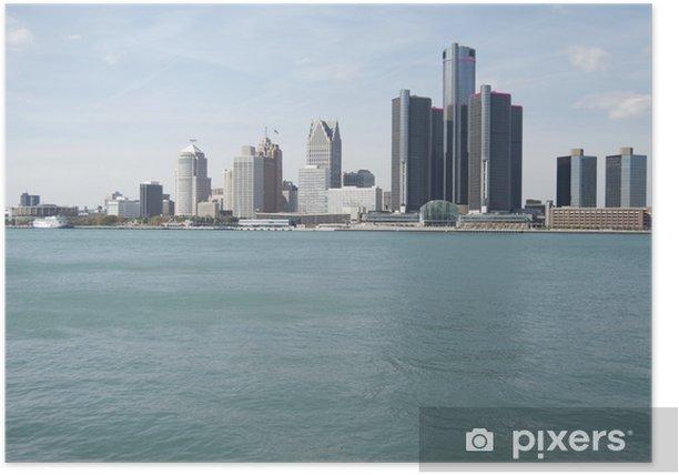 Plakat Detroit skyline - Ameryka