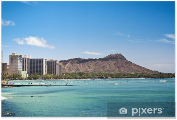 Plakat Diamond Head w Waikiki, Hawaje - Tematy