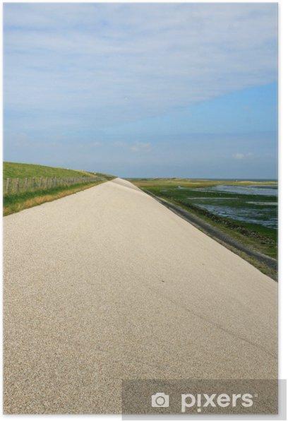 Plakat Dike na Texel - Wyspy