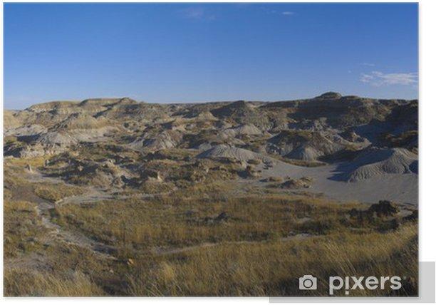 Plakat Dinosaur Provincial Park - Pustynie