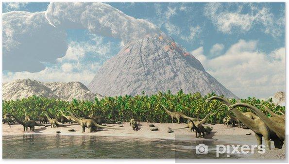 Plakat Dinozaury - Tematy